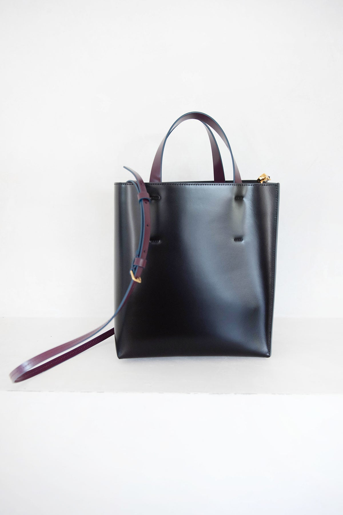 MARNI - museo small bag, black and burgandy