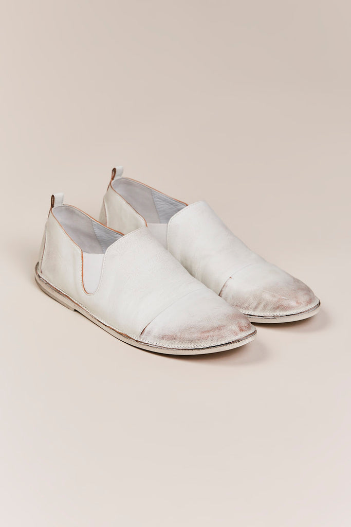 Strasacco Leather Slip-On, Bianco