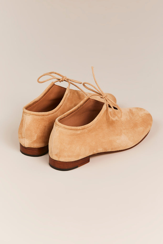 Martiniano - Suede Booties w/ Laces, Sand - Shoes