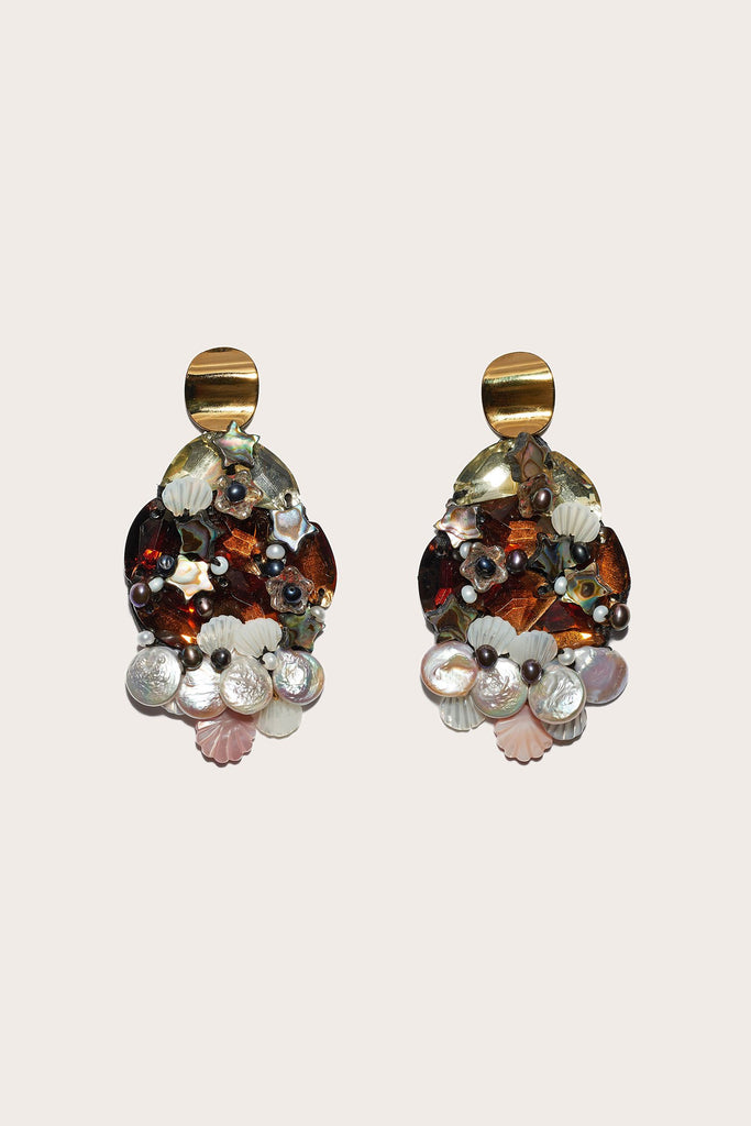 Mediterranean Reflection Earring, Multi