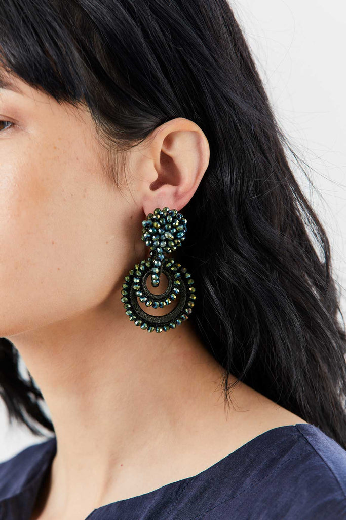 BIBI MARINI - Mini Sundrop Earrings, Green