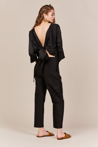 Khalo Wrap Top, Black