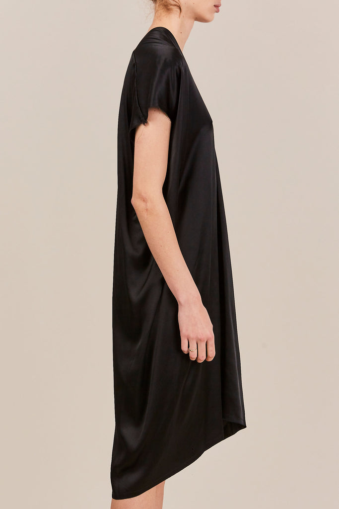 Miranda Bennett - Everyday Dress, Black Charmeuse