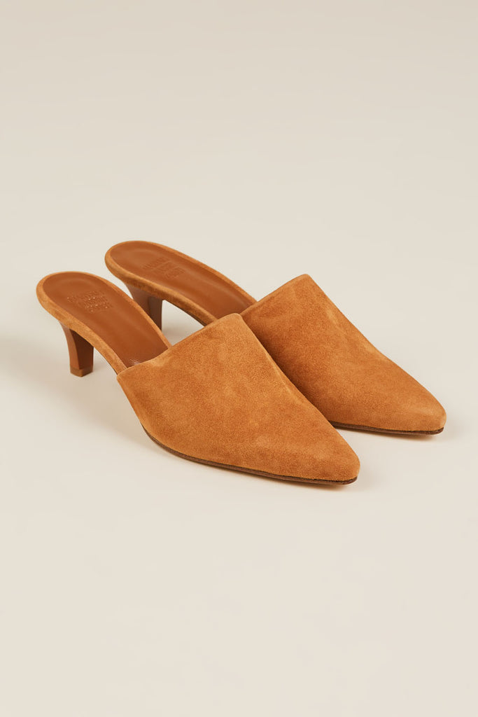 Andrea Suede Mule, Whiskey