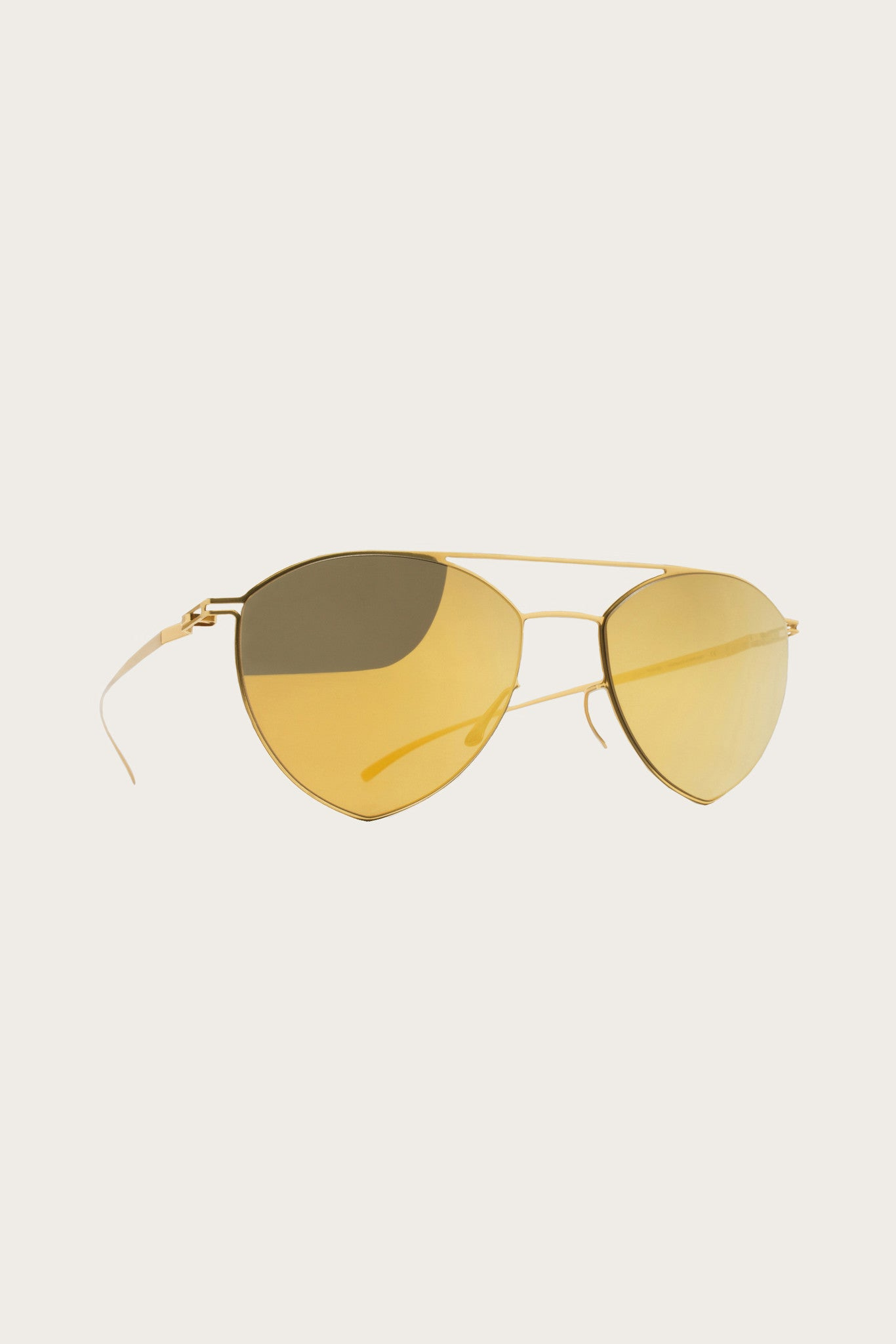 Maison Margiela Aviator Sunglasses, Gold - MYKITA