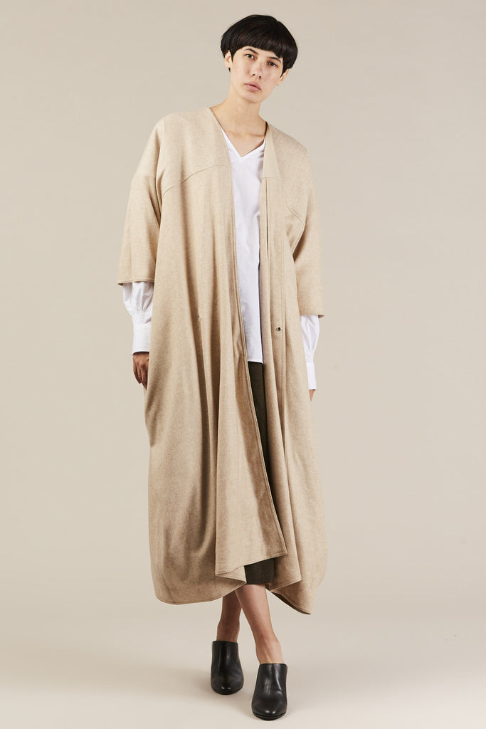 Cira Wrap Coat, Beige