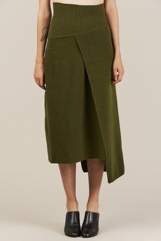 Knit Skirt with Panel