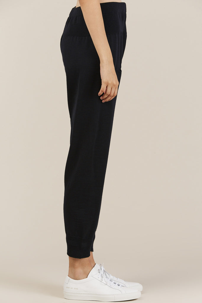 Knitted Leggings, Navy Blue - Nehera