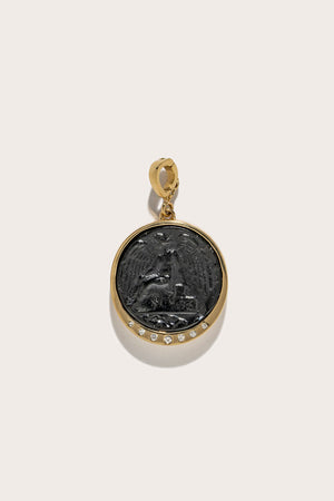 Medium Nike Black Glass Coin Scattered Diamonds, Gold