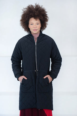 Nomia - diamond quilting jacket, black