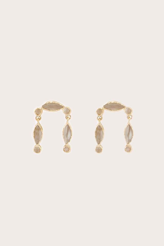 Pascale Monvoisin - Nour Earring, Gold with Moonstone