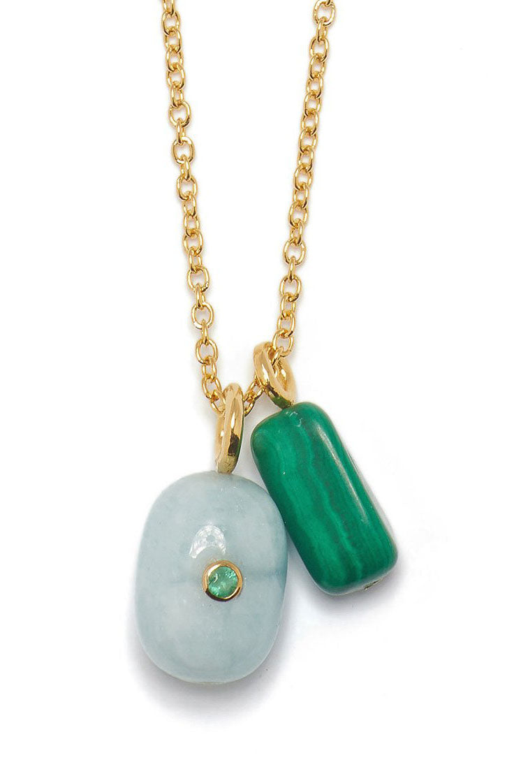 Lizzie Fortunato - blue skies oasis necklace