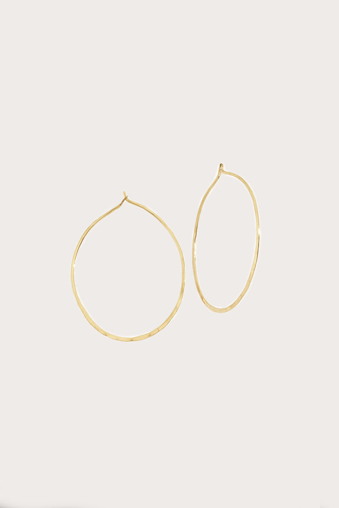 Oval Hoops, Yellow Gold