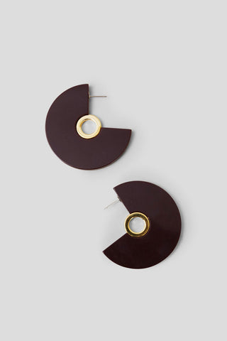 Pac Earrings, Bordo