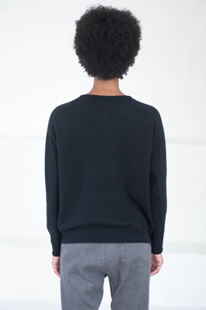 pas de calais - wool sweater, black