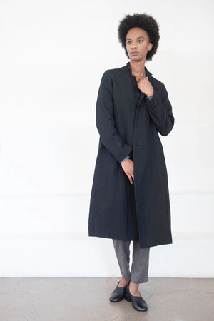 PAS DES CALAIS - button coat, black