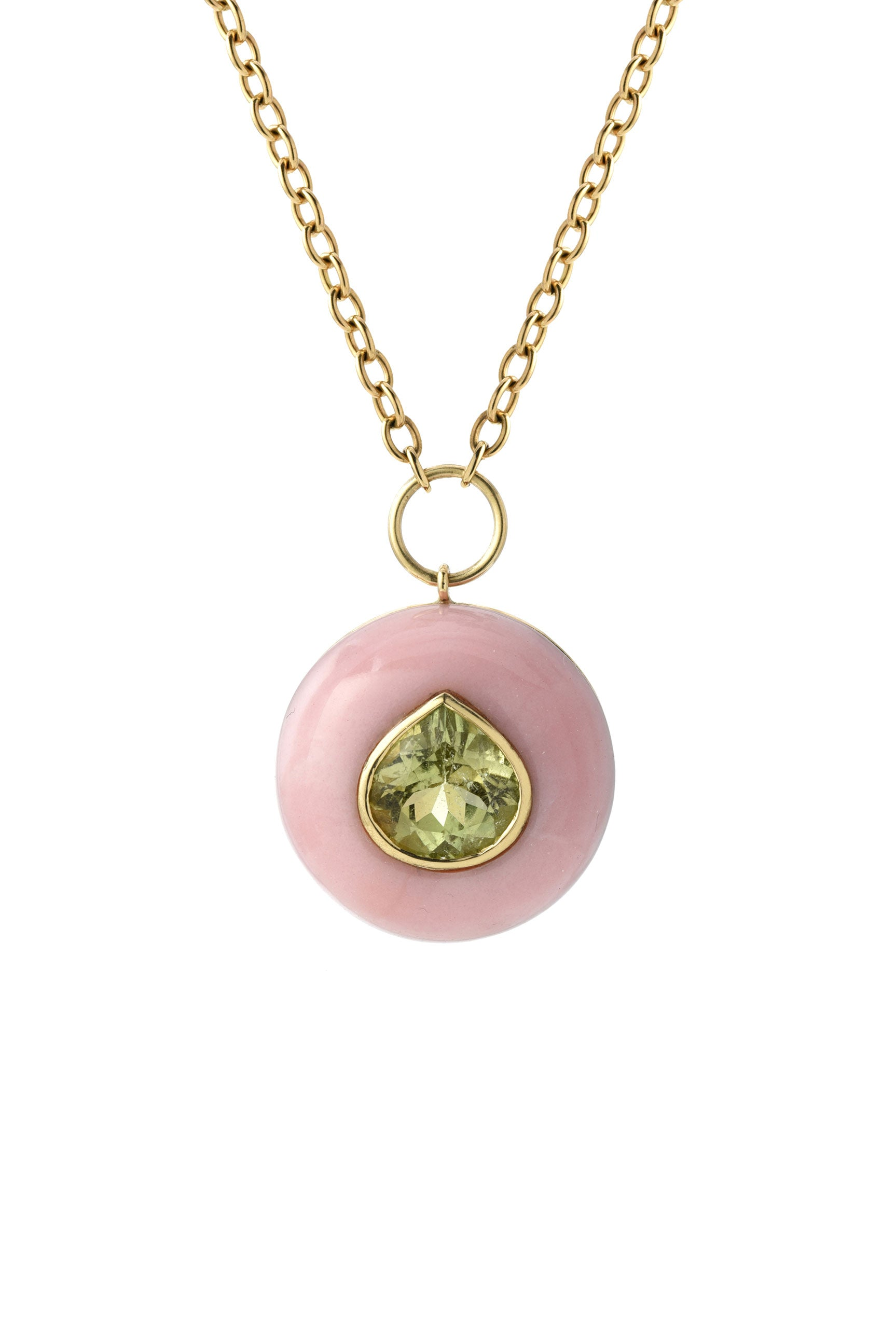 RETROUVAI - Lollipop Pendant Necklace, Gold