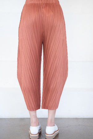 Pleats Please by Issey Miyake - thicker bottoms 1, brown