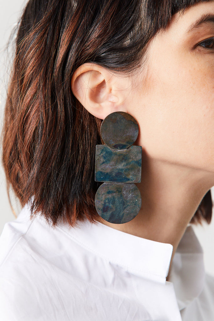 ACB - Popova Earrings, Iridescent Blue