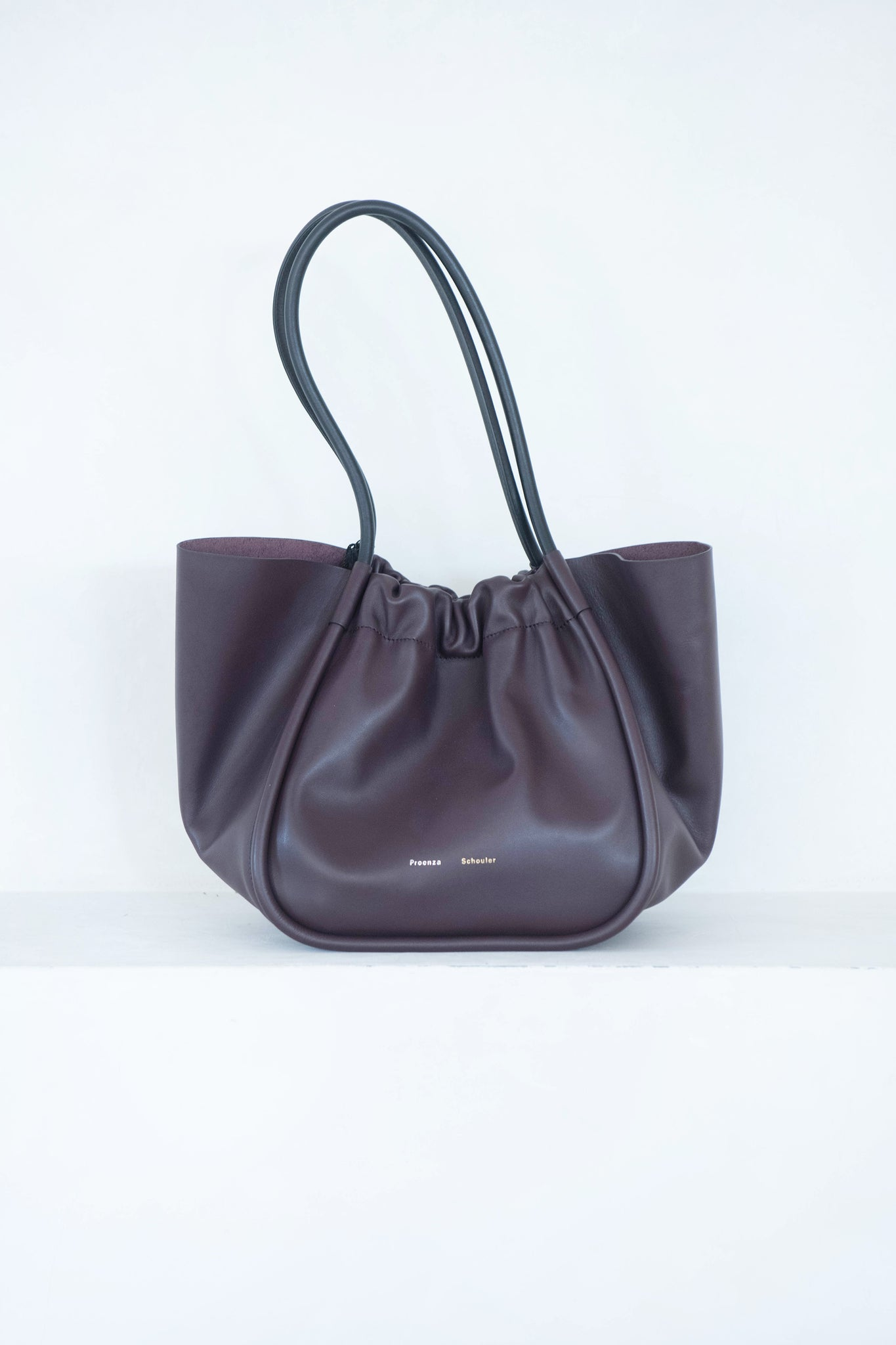 proenza schouler - large ruched tote, bordeaux