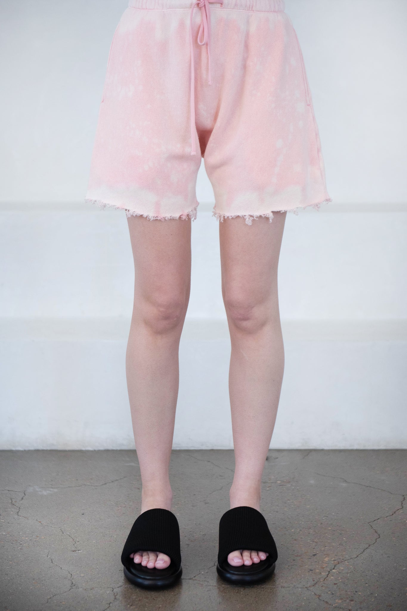 R13 - dropped crotch sweat shorts, pink