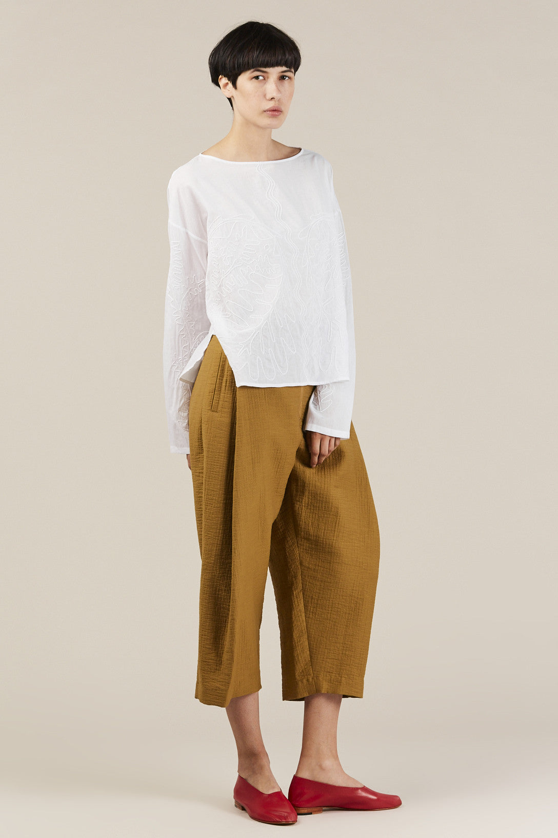 Rachel Comey - Embroidered Barter Top, White