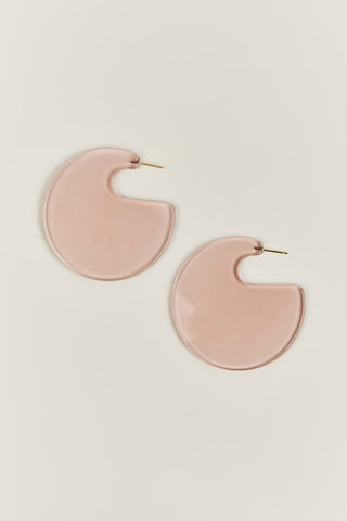 Camille Hoop Earrings, Clear Tawny
