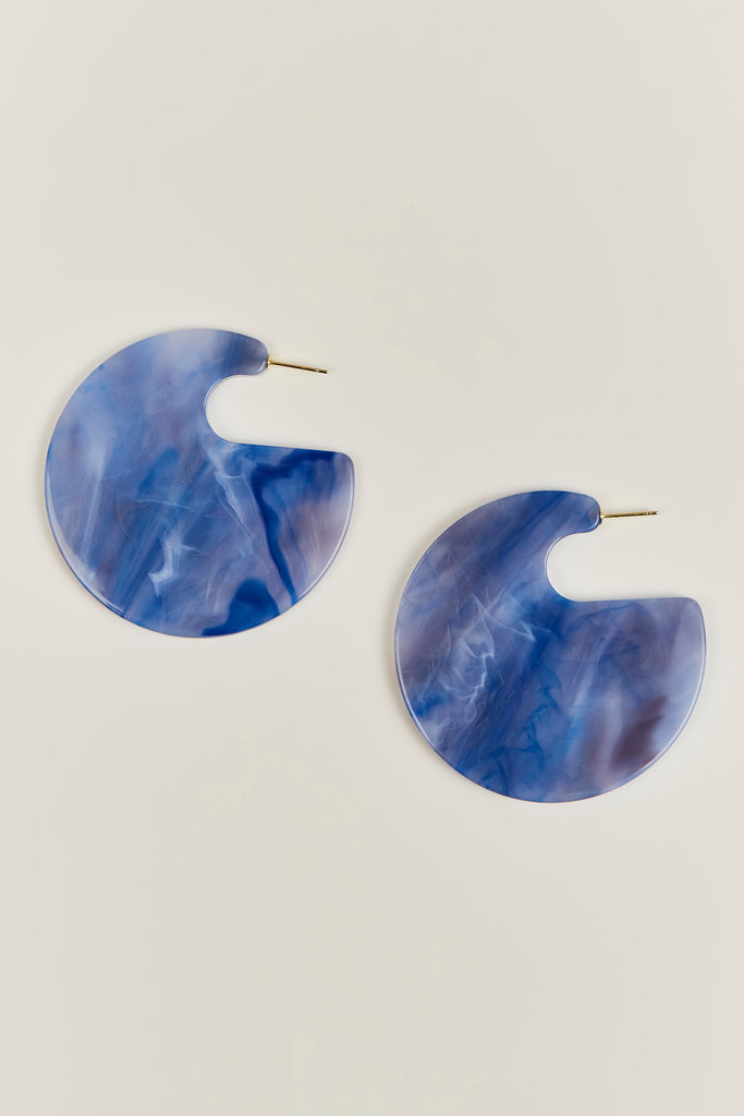 Rachel Comey - Camille Hoop Earrings, Blue Marble