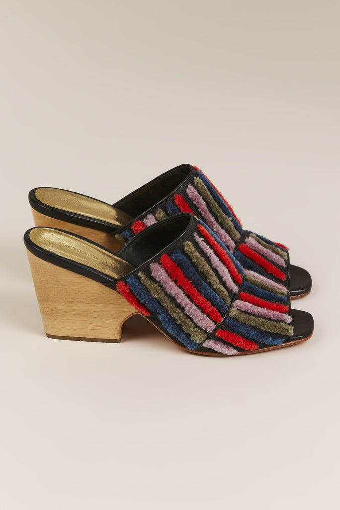 Dahl Striped Mule, Multicolor - Rachel Comey