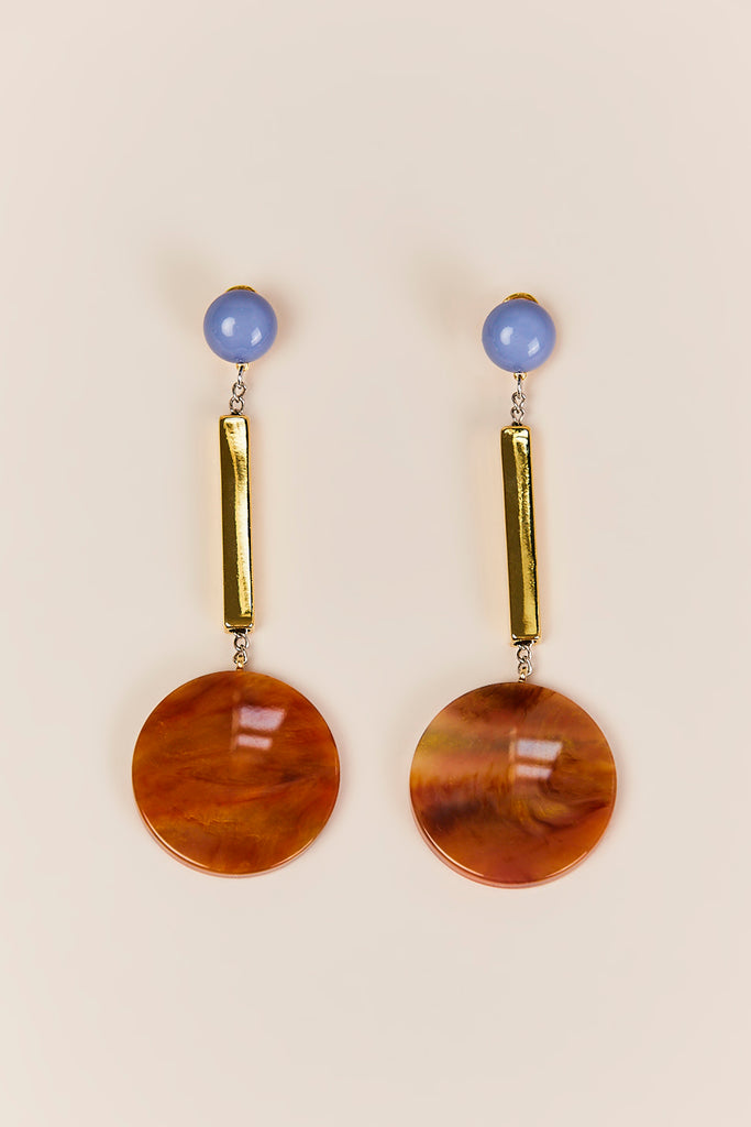 Rachel Comey - Jo Earrings, Tawny Marble