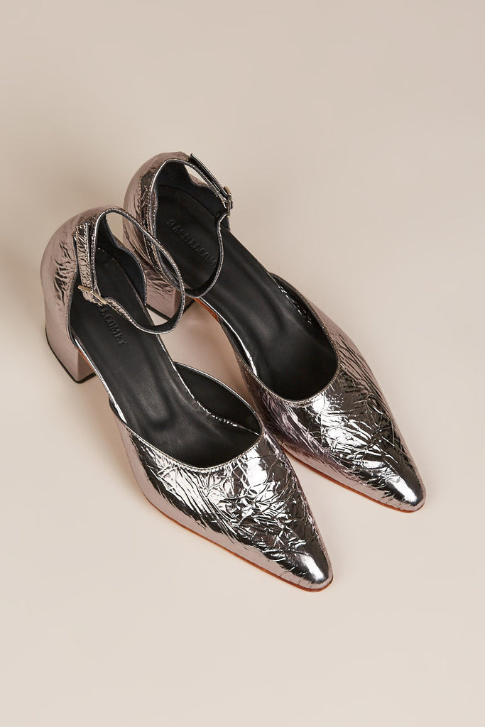 Tetra All Foil Heel, Metallic by Rachel Comey