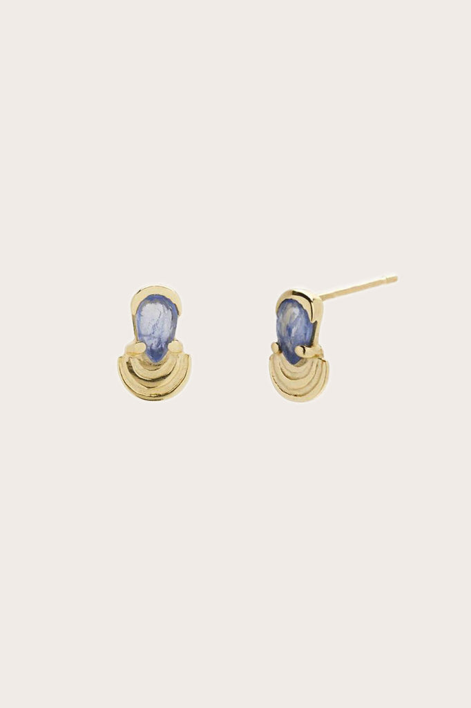 Rainbow Droplet Studs, Gold