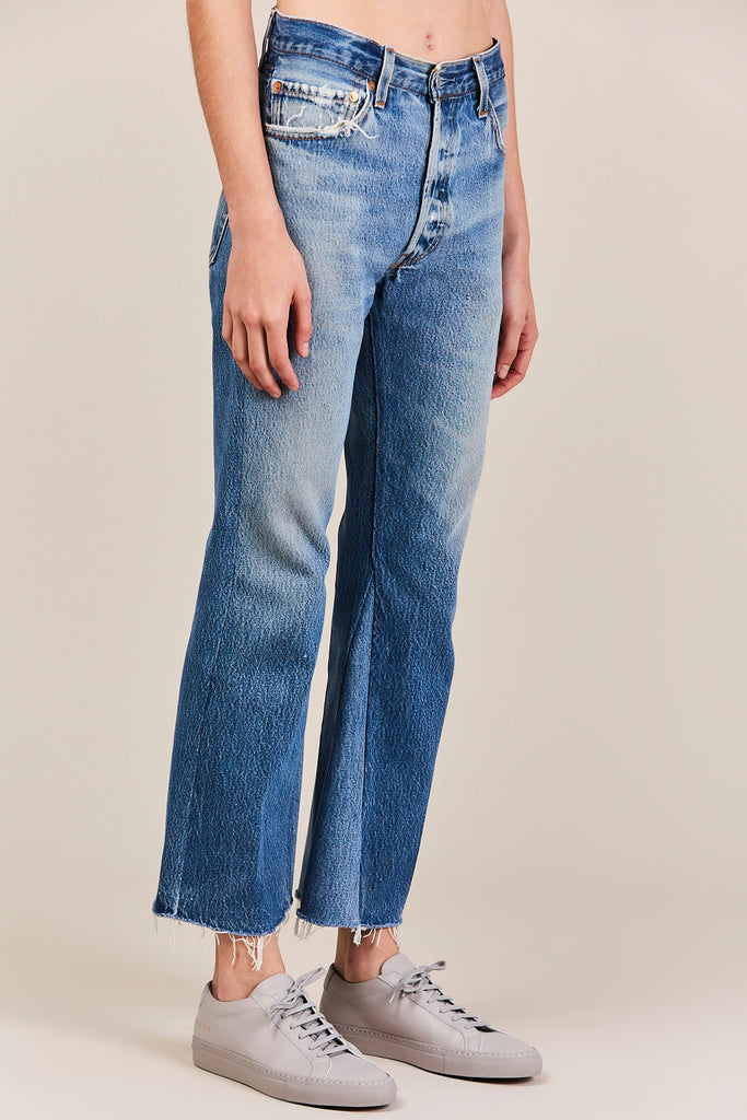 RE/DONE - High-Rise Crop Flare Jeans, Indigo