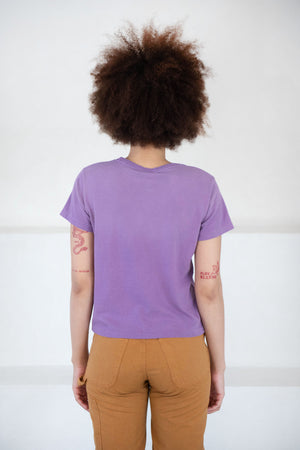RE/DONE - classic tee, purple