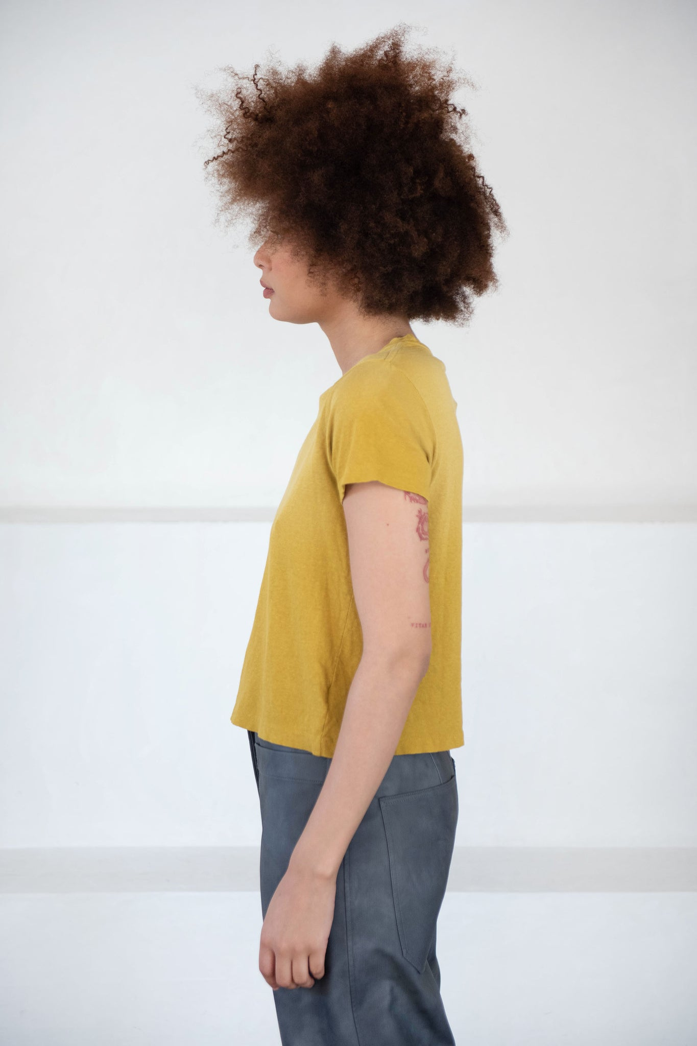 RE/DONE - classic tee, mustard