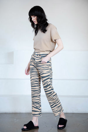 RE/DONE - 70s loose flare pant, tiger