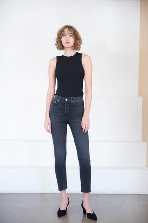 RE/DONE - 90s high rise ankle crop, blackII