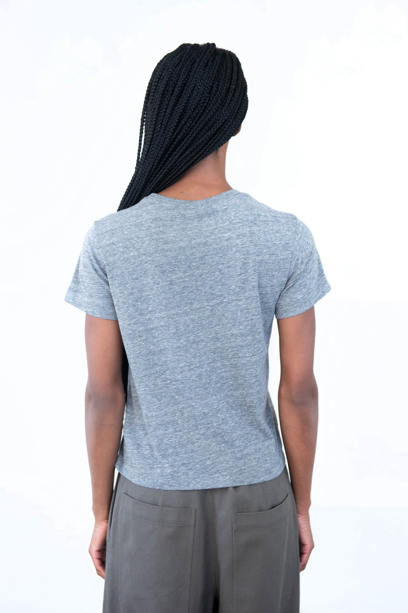 RE/DONE - recycled classic tee, heather grey