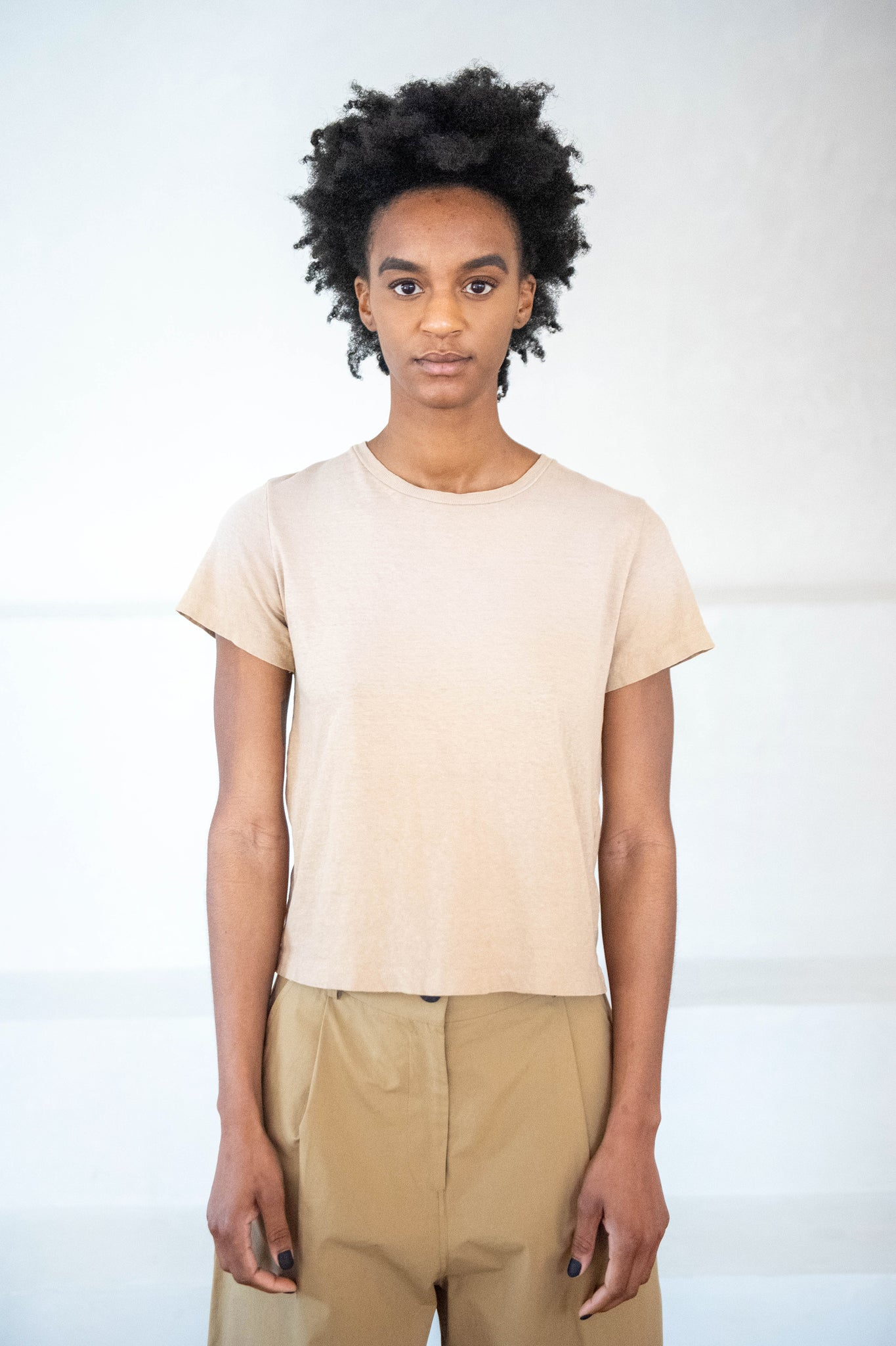 RE/DONE - classic tee, faded khaki