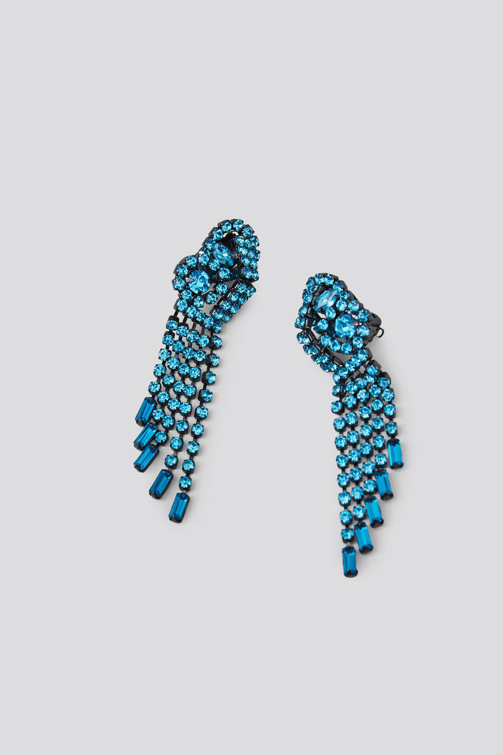 RACHEL COMEY - Rerun Earrings, Aquamarine Rhinestone