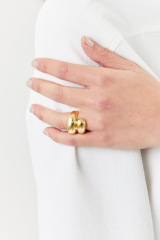 Double Apse Ring, Gold