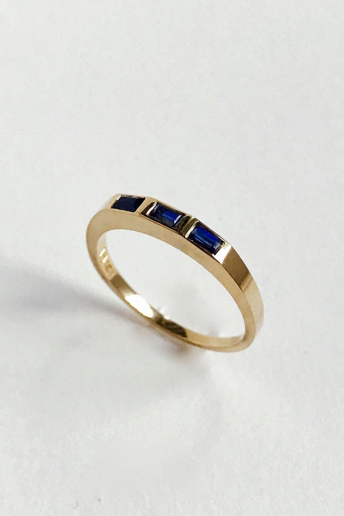 Stella Band, Gold with Sapphires