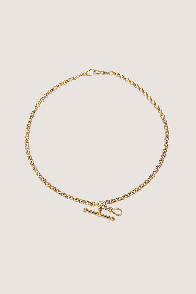 Rolo Double Albert Chain, Gold