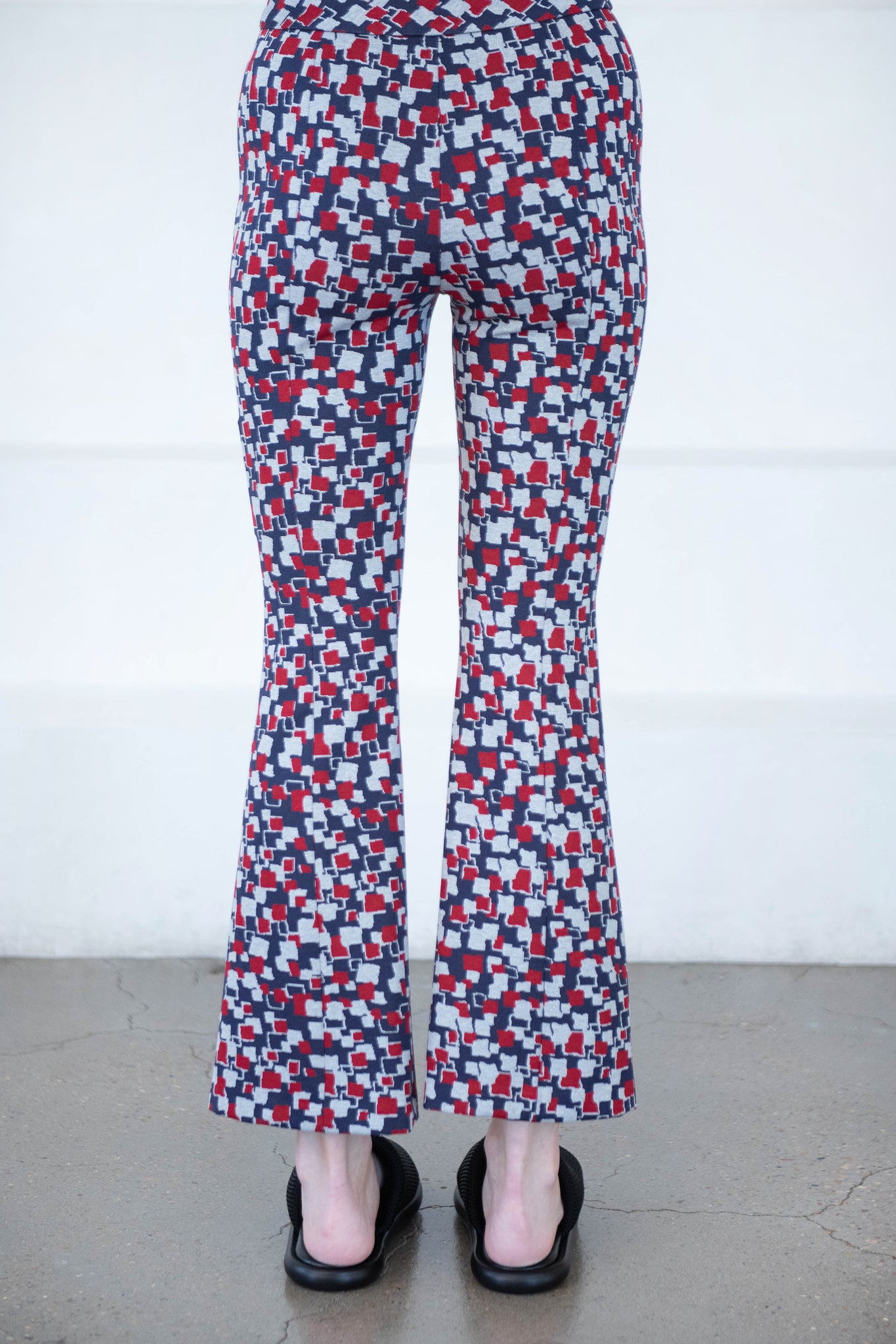 ROSETTA GETTY - abstract flare pant, multi