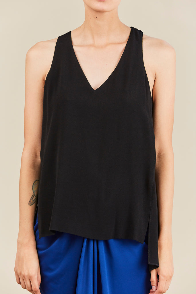 Rosetta Getty - Twist Back Tank, Black