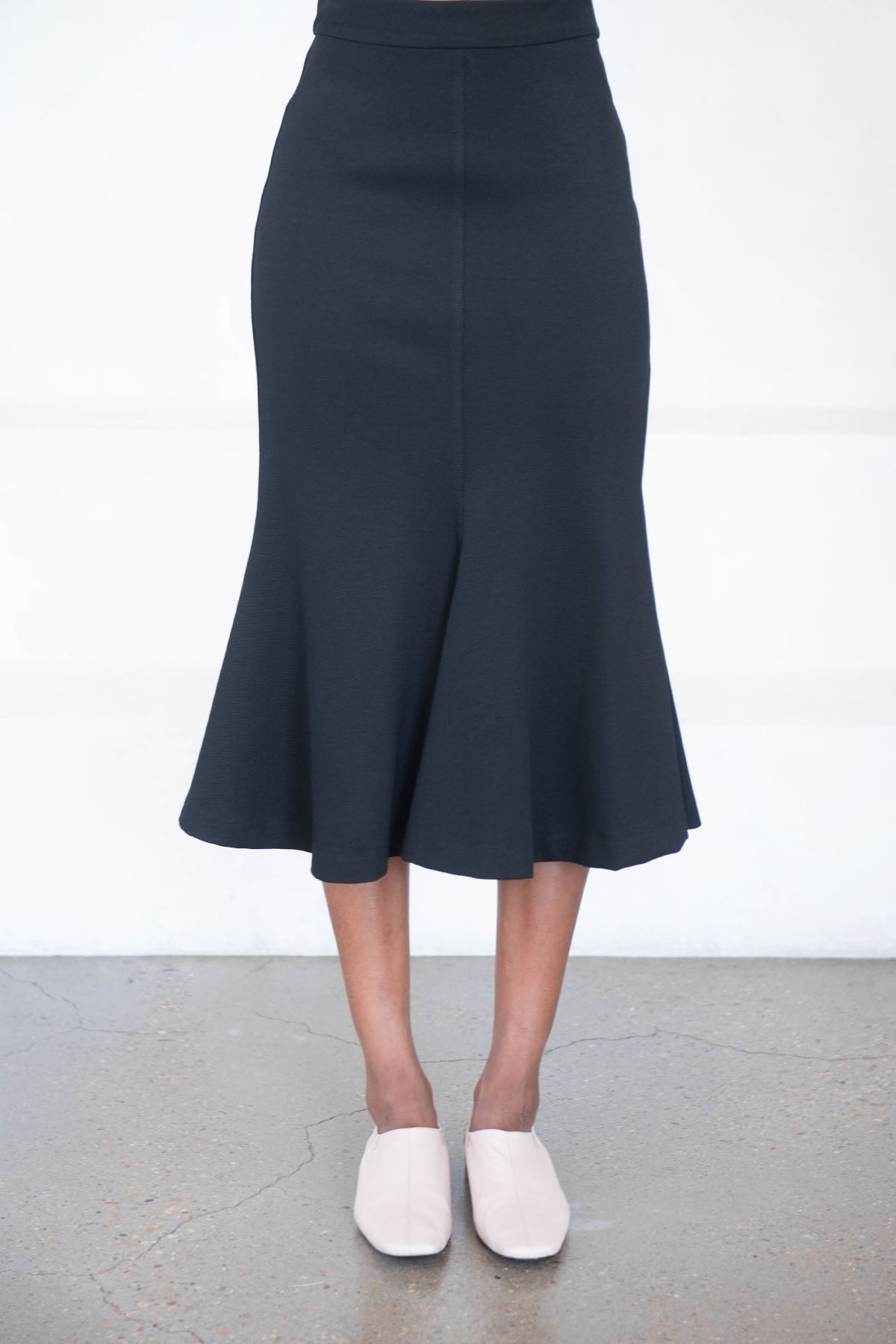 ROSETTA GETTY - fluted skirt, black