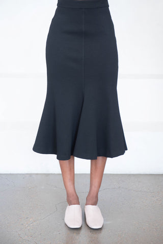 fluted skirt, black