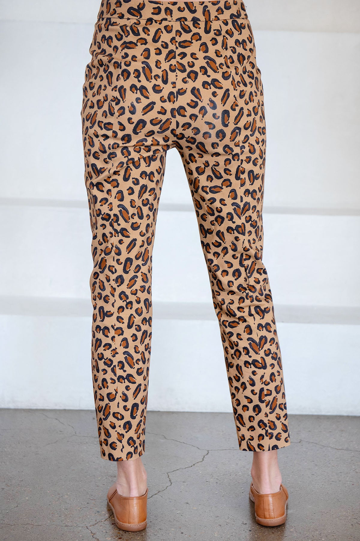 ROSETTA GETTY - pull on cropped skinny pant, leopard