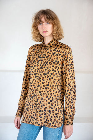 ROSETTA GETTY - relaxed shirt, leopard