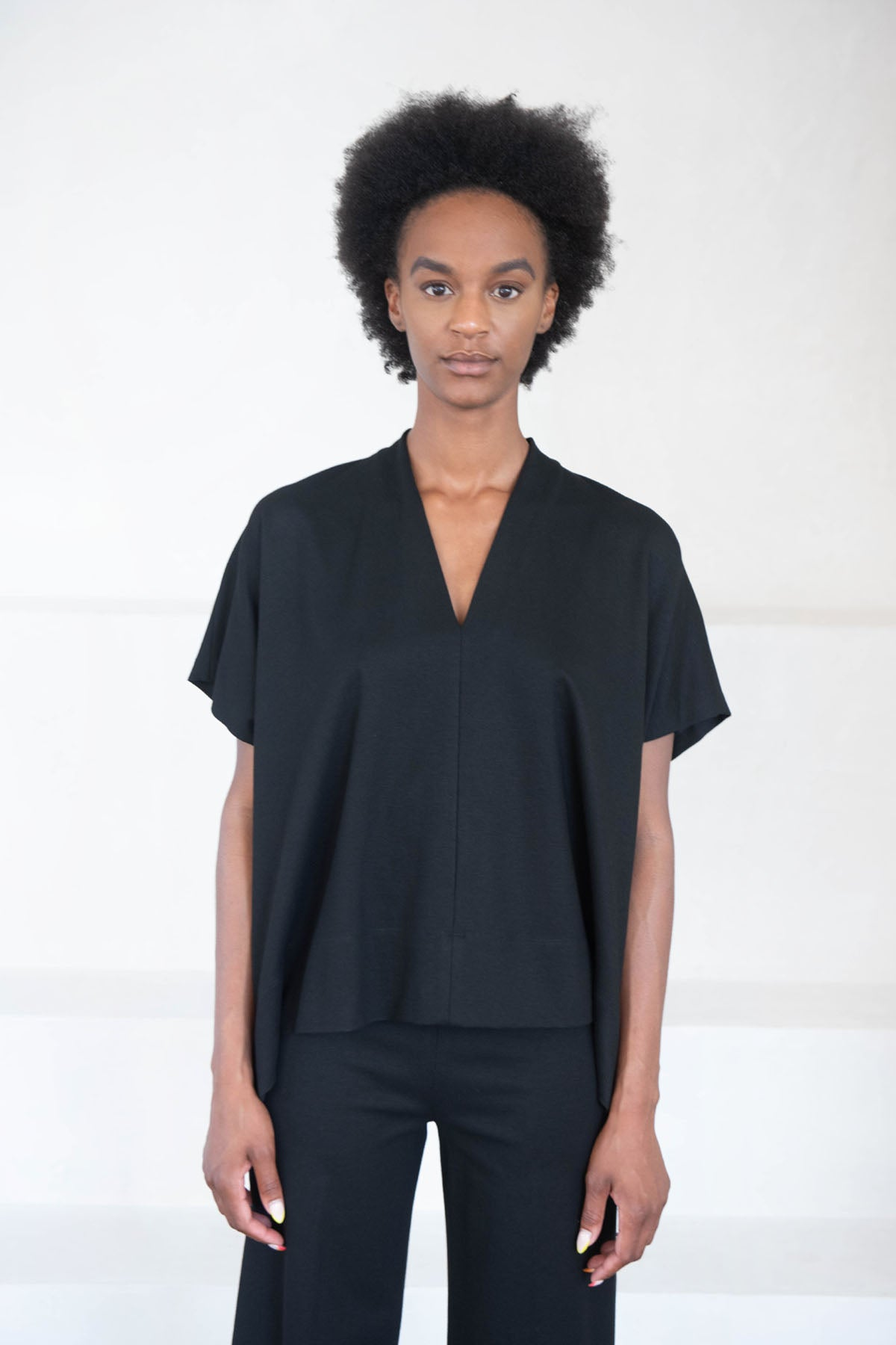 ROSETTA GETTY - v-neck top, black
